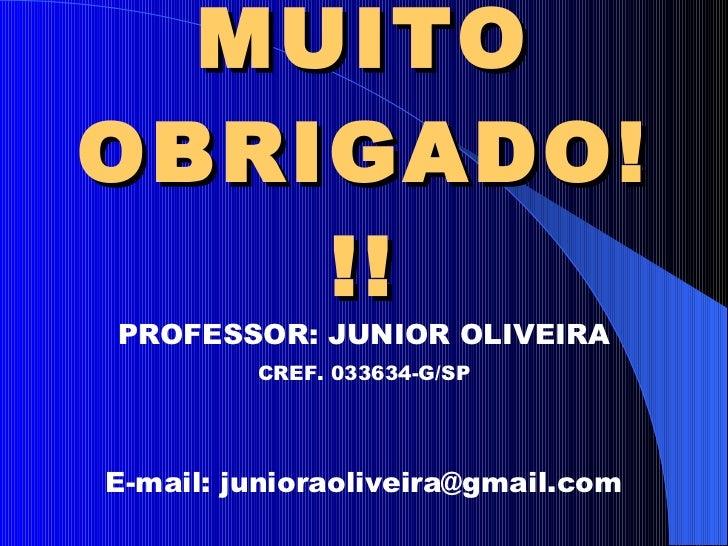 Prof Júnior Oliveira: Exercícios De Treinamento Resistido Aula 3