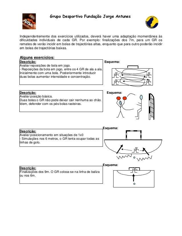 Grupo Desportivo Fundação Jorge Antunes  Independentemente dos exercícios utilizados, deverá haver uma adaptação momentâne...