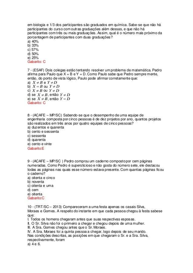 em biologia e 1/3 dos participantes são graduados em química. Sabe-se que não há participantes do curso com outras graduaç...