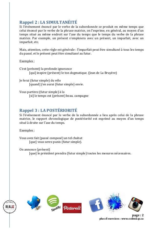 Community management: Exercice dictée Concordance des temps Slide 2