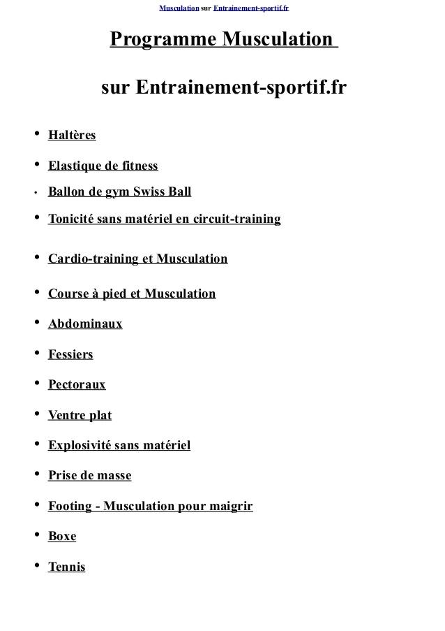 Sehr Exercices de musculation avec halteres RW93