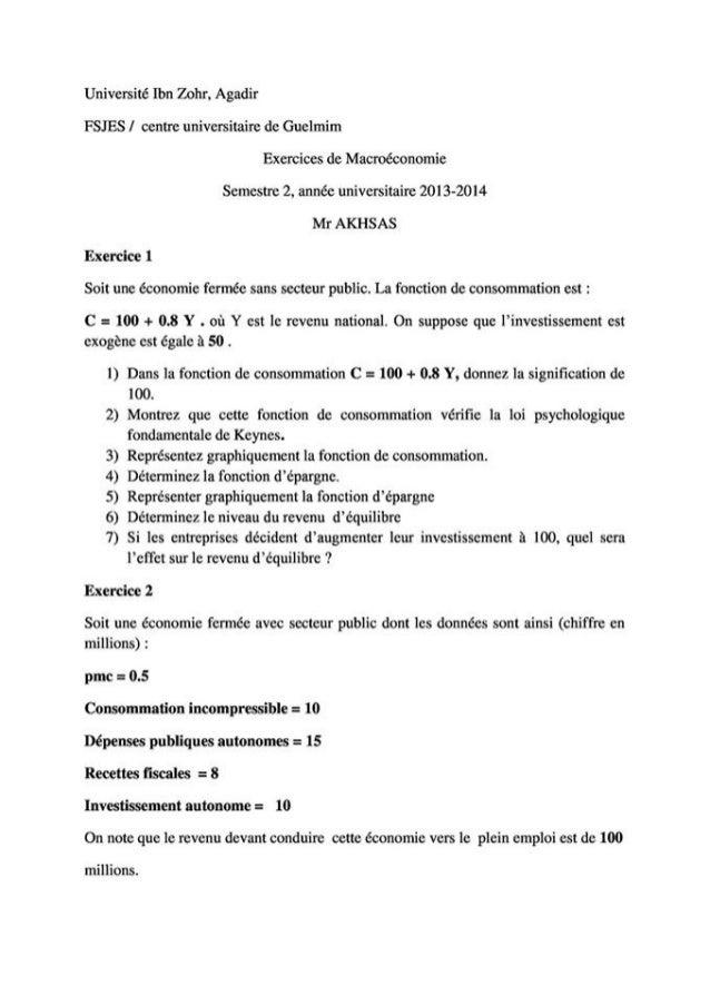 Exercices corrige macroeconomie  s2  de bien[learneconomie.blogspot.com]