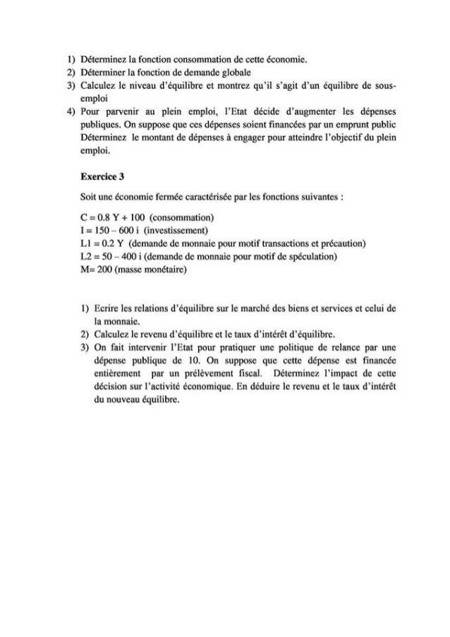 Exercices corrige macroeconomie  s2  de bien[learneconomie.blogspot.com] Slide 2