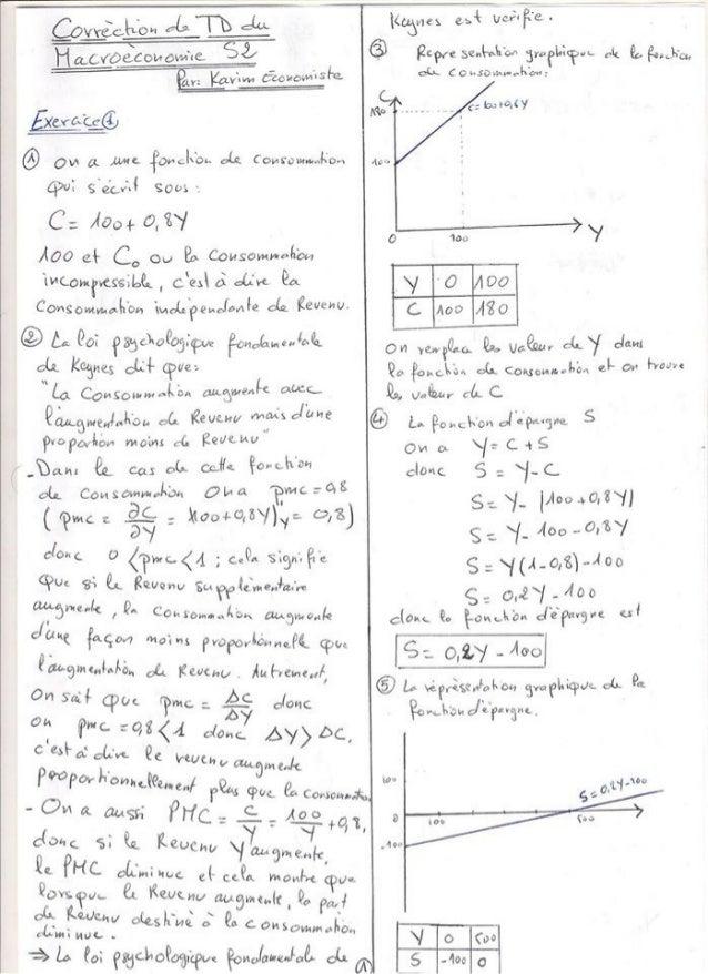 Exercices corrige macroeconomie  s2  de bien[learneconomie.blogspot.com] Slide 3