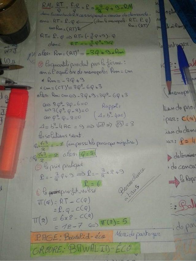 Exercices corrige monopol s2 micro [learneconomie.blogspot.com] Slide 2