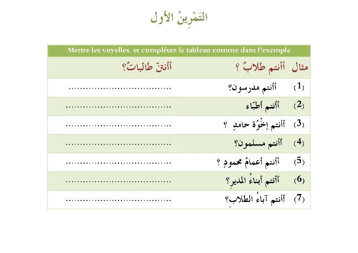 Exercices (les pronooms) Slide 2