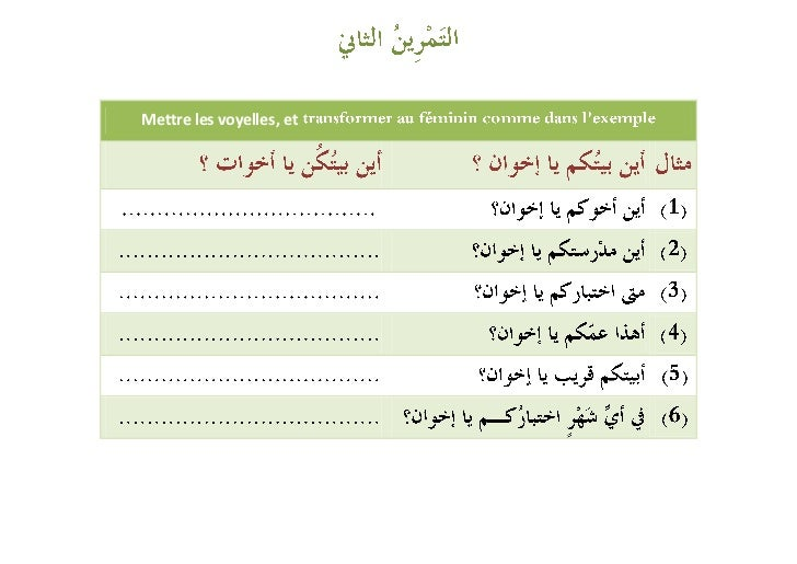 Exercices (les pronooms) Slide 3