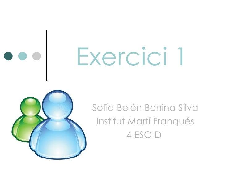 Exercici 1 Sofía Belén Bonina Sílva  Institut Martí Franqués           4 ESO D