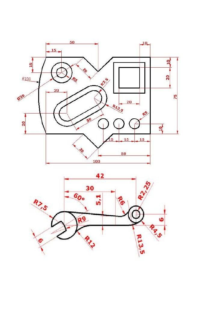 Exercícios:1- Desenhar e cotar2- Desenhar e cotar