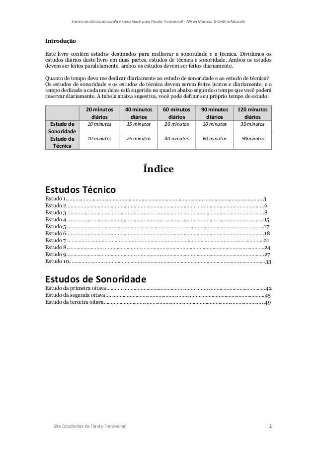 Exercícios diários de escala e sonoridade para flauta transversal   nilson mascolo & cinthia mascolo-1 Slide 2
