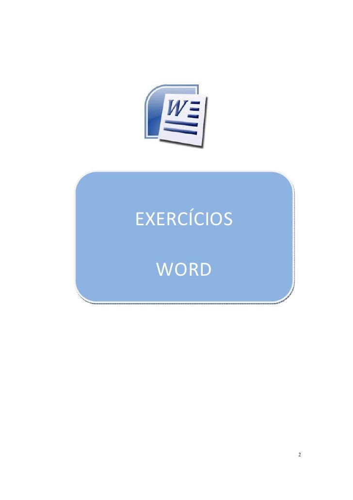 EXERCÍCIOS  WORD             2