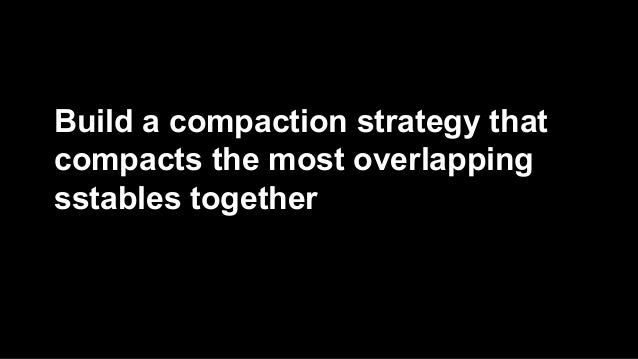 Build a compaction strategy that  compacts the most overlapping  sstables together