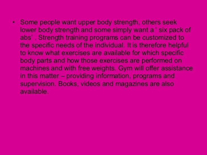 Exercise Design For Major Muscle Groups Slide 3