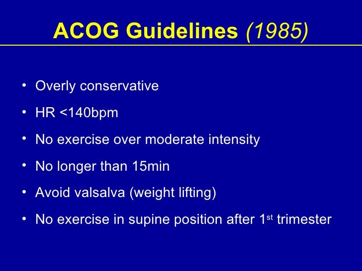 acog guidelines for exercise during pregnancy