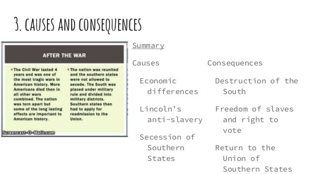 "economic causes to the civil war This reconsideration of the civil war by economic historians can be loosely  grouped into four broad issues: the ""economic"" causes of the war the ""costs"" of  the."