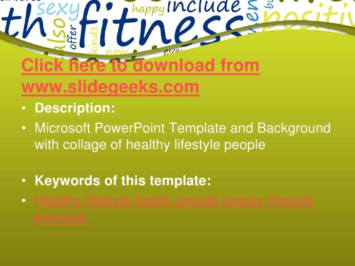 Health lifestyle ppt templates health lifestyle ppt templatesbr slidegeeksbr 2 click here to download toneelgroepblik Image collections