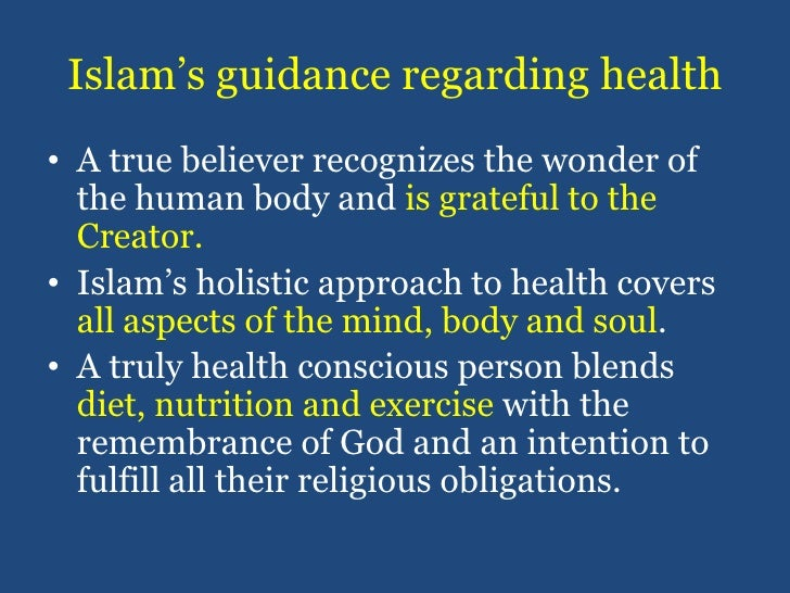 Islam's guidance regarding health<br />A true believer recognizes the wonder of the human body and is grateful to the Crea...