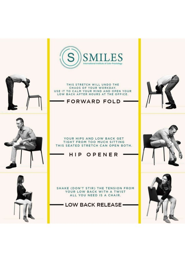 Exercise at desk tips