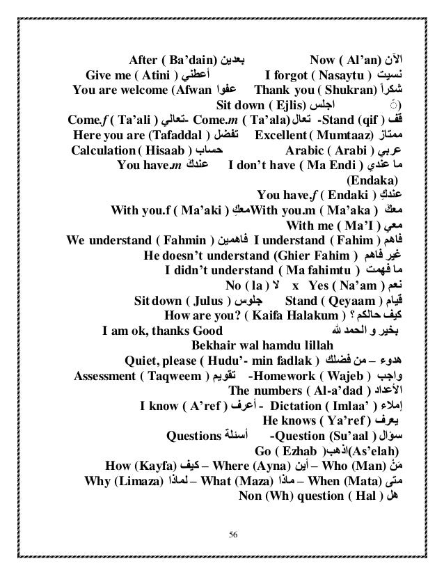 Essential Arabic Basics
