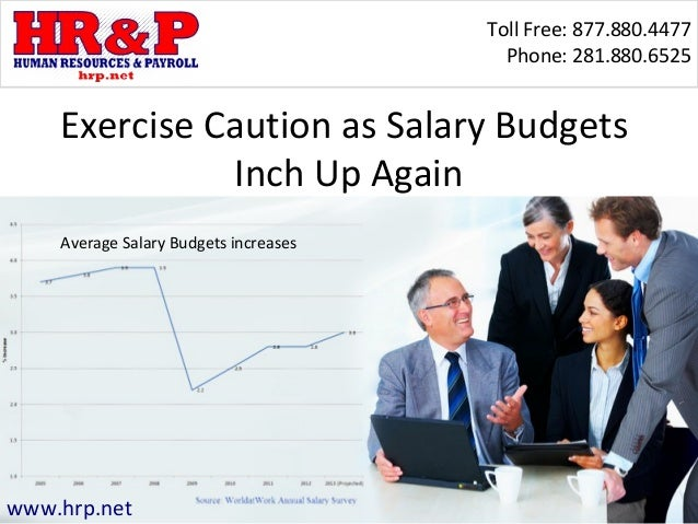 Toll Free: 877.880.4477 Phone: 281.880.6525 www.hrp.net Exercise Caution as Salary Budgets Inch Up Again Average Salary Bu...