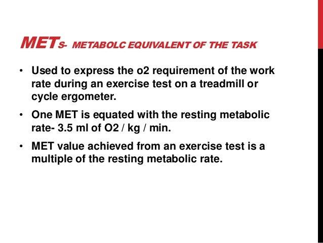 6 1 Met Resting 2 Mets Level Walking
