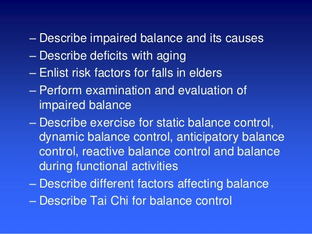 Exercise for impaired balance by DR. H.Bilal Malakandi, PT