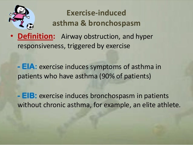 exercise induced asthma essay The effect of exercise in the cold on lung function in athletes the prevalence rate of bronchoconstriction that is exercise-related in athletes range from 11% to 50%, and up to 90% of subjects with asthma will have exercise-induced bronchospasm (holzer et al, 2002 restated by parsons and mastronarde 2005.