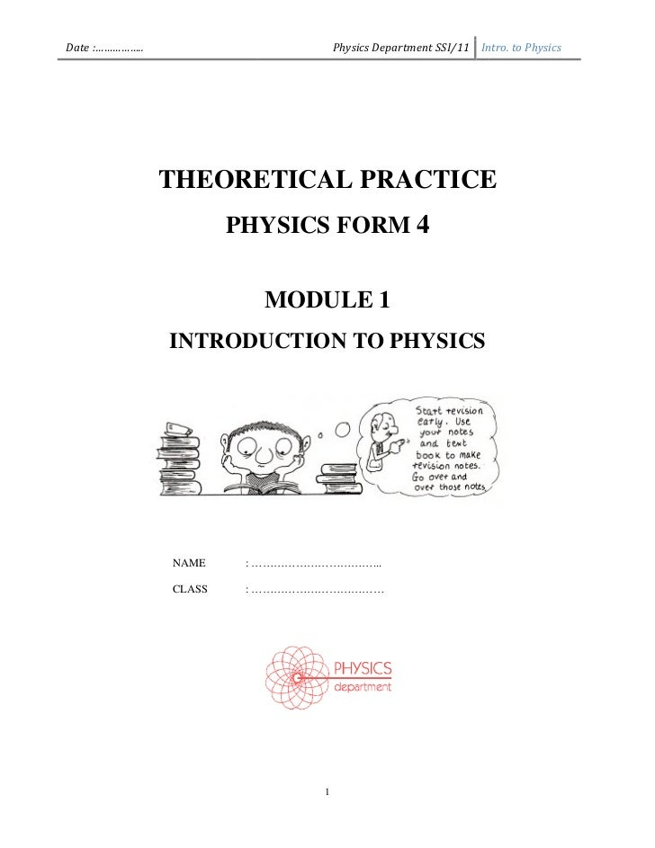 Exercise intro to physics