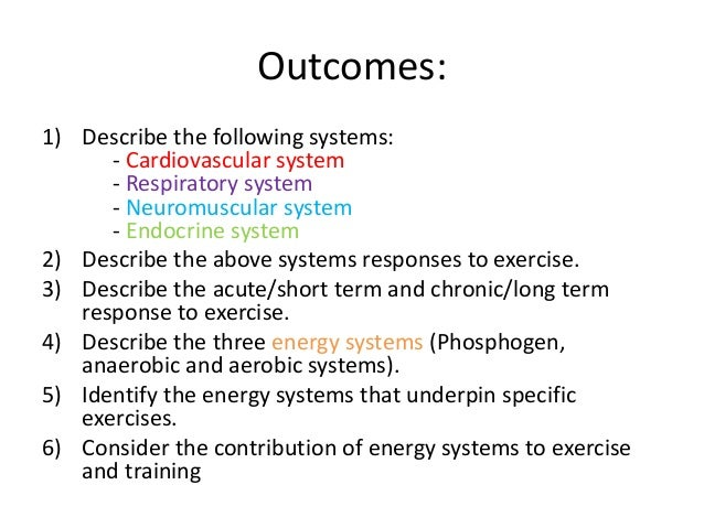 physiologic responses to long term exercise Physiological factors limiting endurance exercise  long-term training in  all the physiological factors limiting endurance exercise performance.