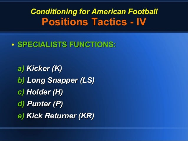 Conditioning For American Football