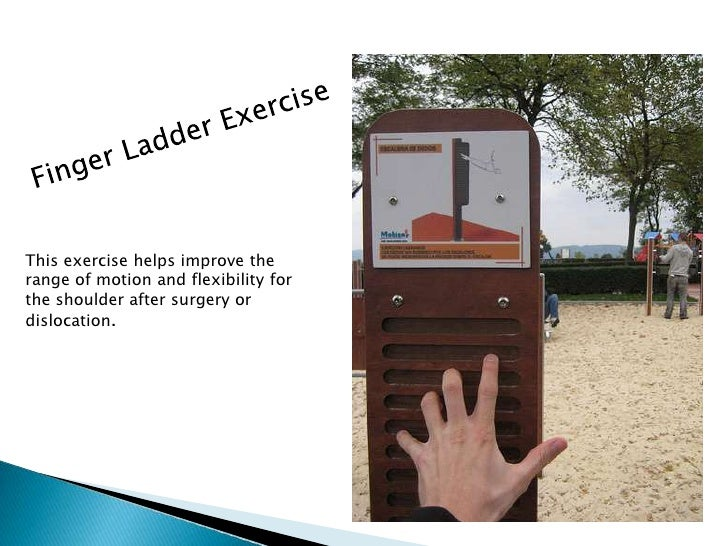Finger Ladder Exercise<br />This exercise helps improve the range of motion and flexibility for the shoulder after surgery...