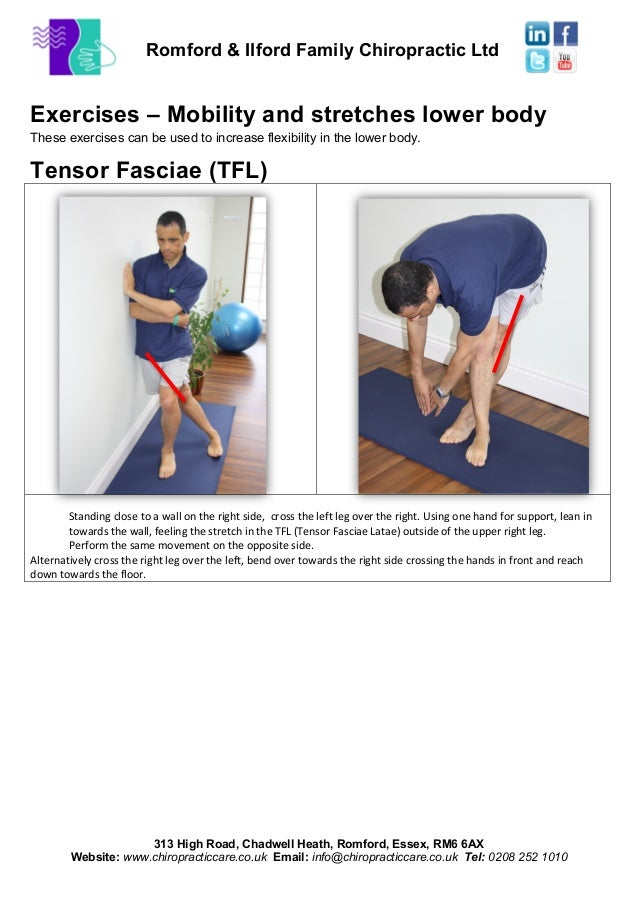 Exercises – mobility and stretches low back tensor fasciae ...
