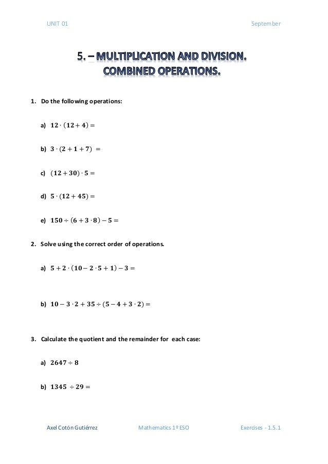 unit 1 chapter exercise Samples for primary math us edition from singapore math inc  chapter 1: decimal - exercise 12  unit 1 - fractions - part 1: divide a whole number by a unit .