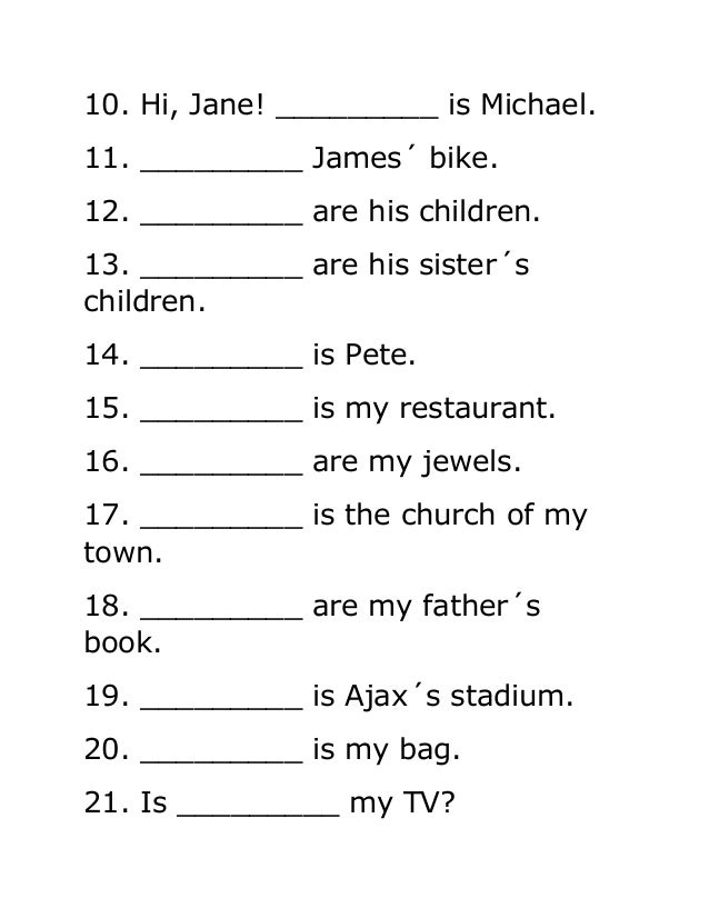 Adjectives Worksheets In Spanish | Homeshealth.info