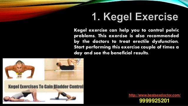 does cardio exercise help with erectile dysfunction