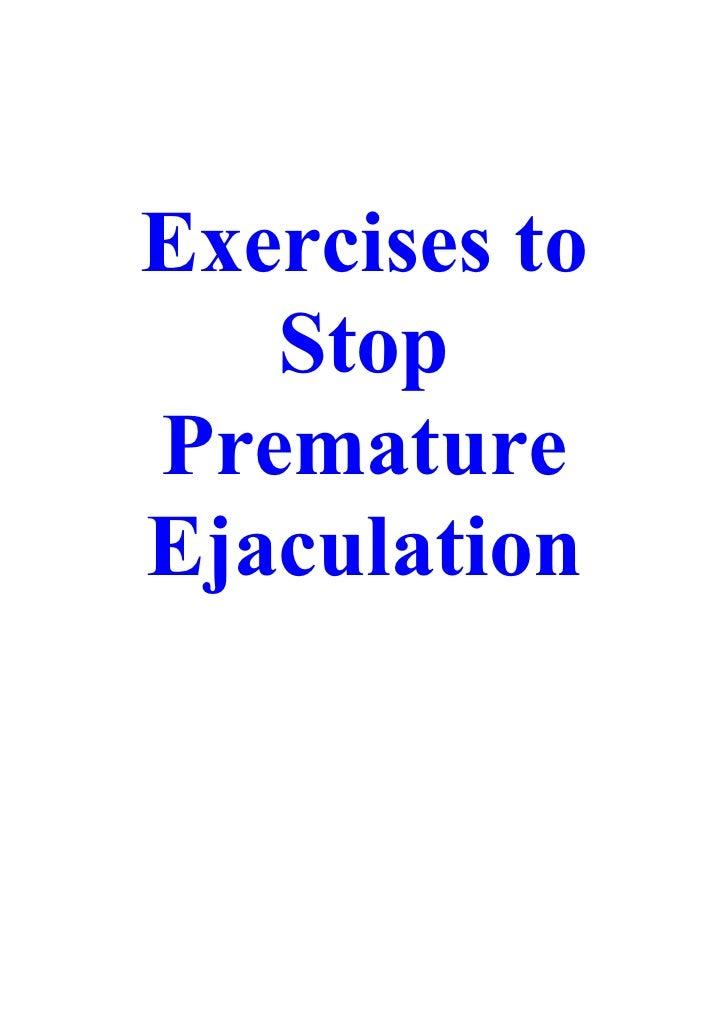 How do you control premature ejaculation