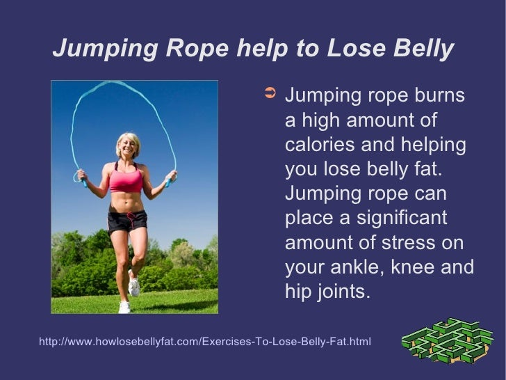 do skipping reduce belly fat