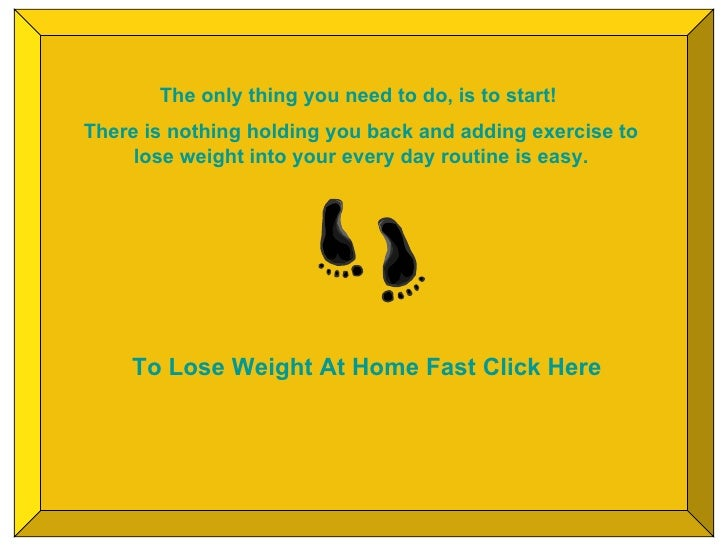 how to exercise at home and lose weight