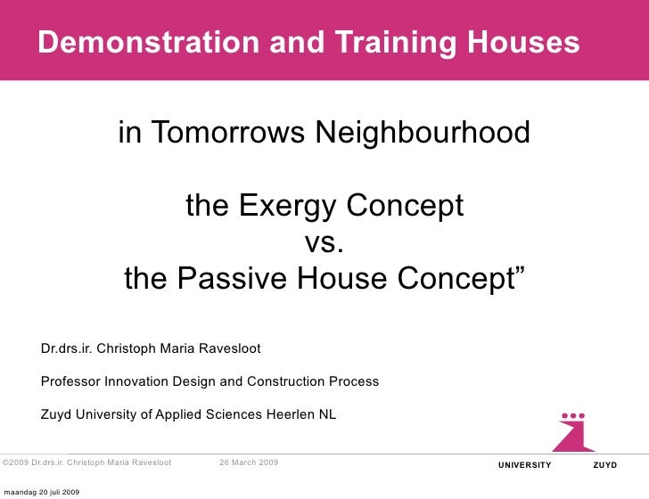 Demonstration and Training Houses                              in Tomorrows Neighbourhood                                 ...