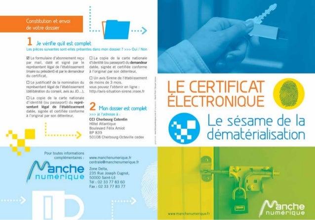 Plaquette certificat électronique