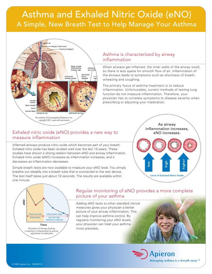 Asthma and Exhaled Nitric Oxide (eNO)     A Simple, New Breath Test to Help Manage Your Asthma                            ...