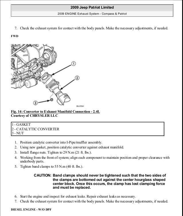 manual reparacion jeep compass patriot limited 2007 2009 exhaust rh slideshare net Chamberlain Garage Door Opener Manual Pontiac Shop Manual 2007