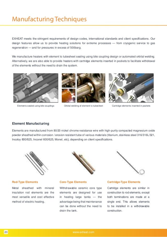 EXHEAT - Hazardous Area Process Heaters (Zone 1 & Zone 2) - Brochure