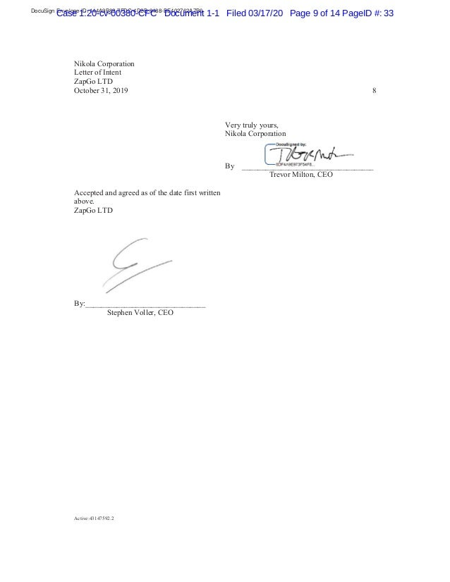 DocuSign Envelope ID: 144A9B82-7FDC-4D2B-8488-BE402762A7B6 Case 1:20-cv-00380-CFC Document 1-1 Filed 03/17/20 Page 9 of 14...