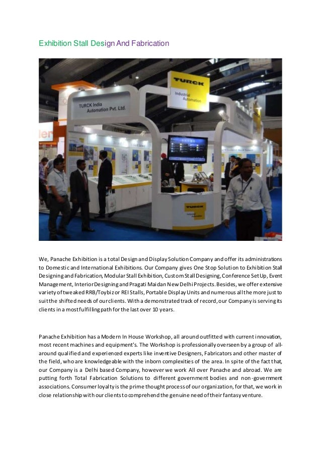 Exhibition Stall Fabrication : Exhibition stall design and fabrication