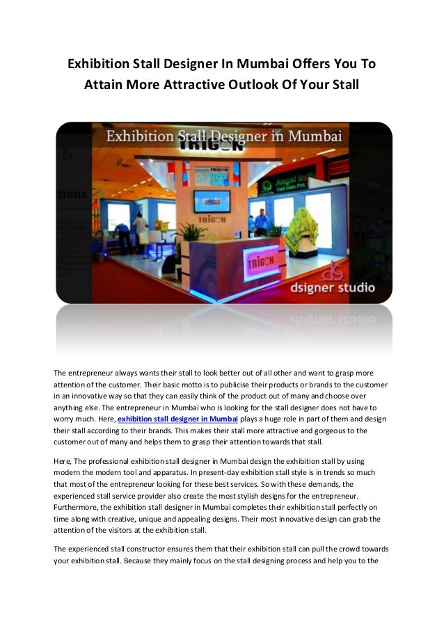 Exhibition Stall Design Agency In Ahmedabad : Exhibition stall designer in mumbai offers you to attain more attractu