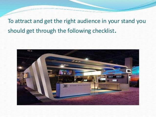 Exhibition Stand Checklist : Exhibition stand checklist