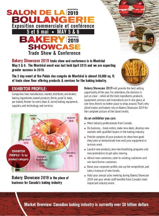 Bakery Showcase 2019 Trade Show Exhibitor prospectus