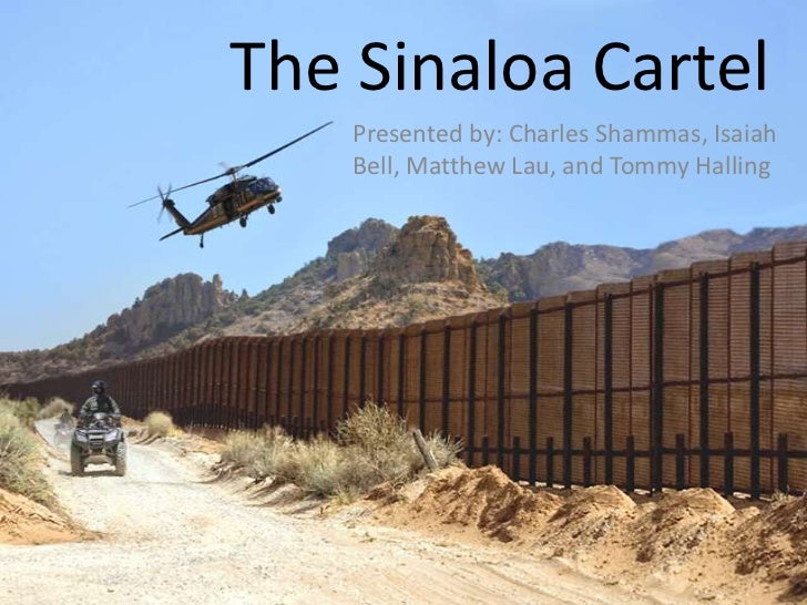 The Sinaloa Cartel    Presented by: Charles Shammas, Isaiah    Bell, Matthew Lau, and Tommy Halling