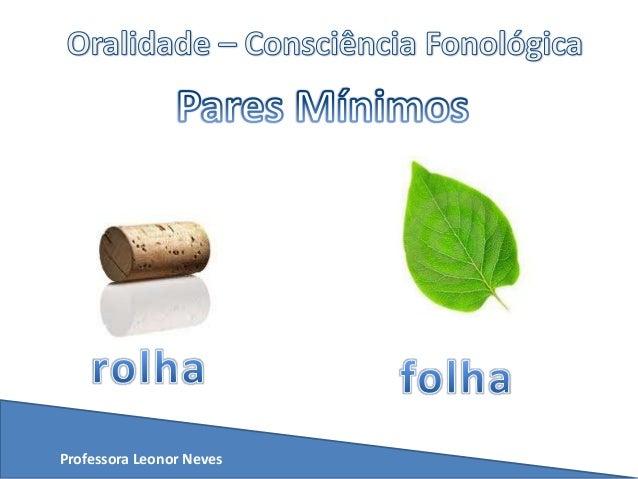 Exibição   pares mínimos - fonética Slide 2